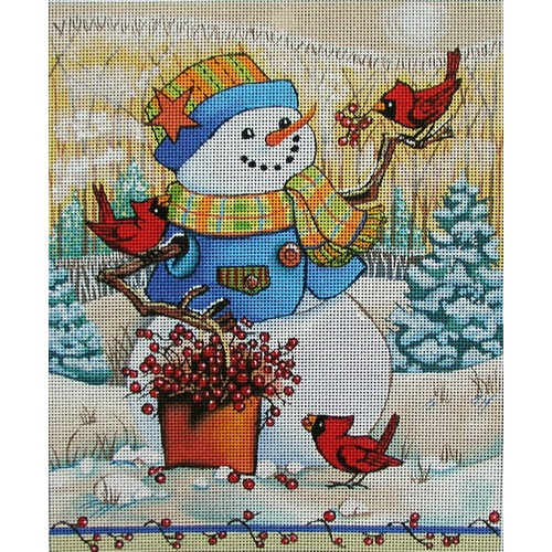 click here to view larger image of Berry Fun Snowman (hand painted canvases)