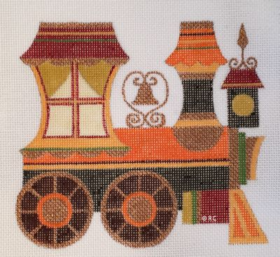 click here to view larger image of Autumn Train Engine (hand painted canvases)
