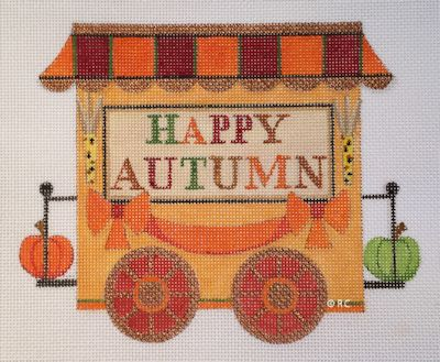 click here to view larger image of Autumn Train Caboose (hand painted canvases)