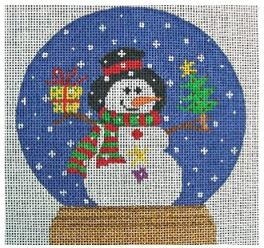 click here to view larger image of Snowman Snowglobe (hand painted canvases)