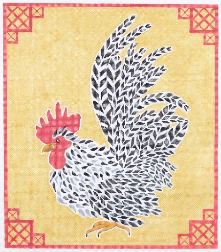 click here to view larger image of JD Rooster On Gold 2 (hand painted canvases)