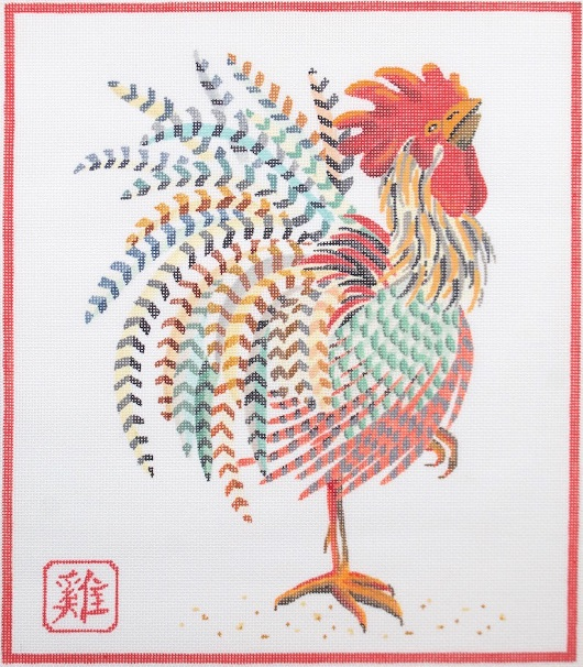 click here to view larger image of Year Of The Rooster (hand painted canvases)