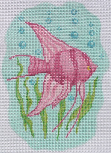 click here to view larger image of Angel Fish Mini (hand painted canvases)