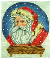 click here to view larger image of Santa Snowglobe (hand painted canvases)