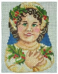click here to view larger image of Victorian Child Ornament (hand painted canvases)