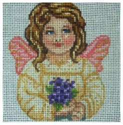 click here to view larger image of Angel Ornament (hand painted canvases)