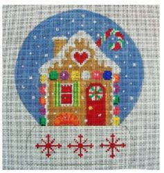 click here to view larger image of Gingerbread II Snow Globe (hand painted canvases)