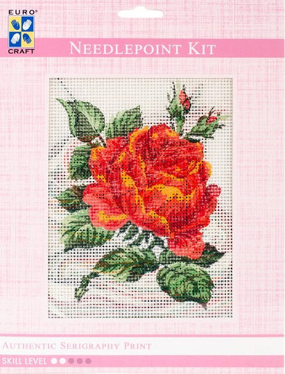 click here to view larger image of Red Rose Needlepoint Kit (needlepoint kits)