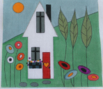 click here to view larger image of Tiny Cottage (hand painted canvases)