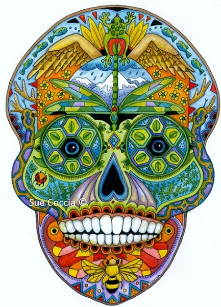 click here to view larger image of Sugar Skull (hand painted canvases)