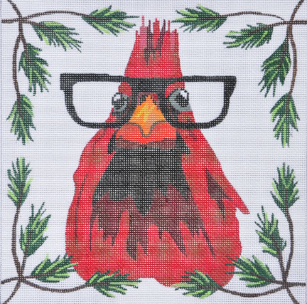 click here to view larger image of Cardinal with Glasses (hand painted canvases)