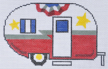 click here to view larger image of Fourth of July Camper Van (hand painted canvases)