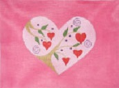 click here to view larger image of Heart (hand painted canvases)