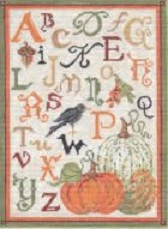 click here to view larger image of ABC Autumn Linen Sampler (hand painted canvases)