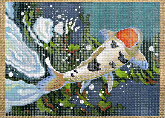 click here to view larger image of Carp Detail #1 (hand painted canvases)