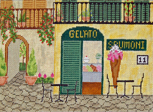click here to view larger image of Ice Cream Parlor (hand painted canvases)
