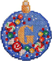 click here to view larger image of Candy Confetti Alphabet Mini Ball Ornament (hand painted canvases)
