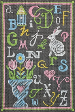 click here to view larger image of ABC Spring Chalk Sampler (hand painted canvases)