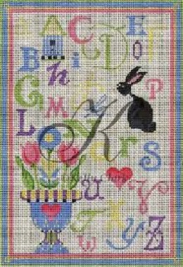 click here to view larger image of ABC Spring Linen Sampler (hand painted canvases)