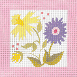 click here to view larger image of Pastel Pink Window -  Daffodil (hand painted canvases)