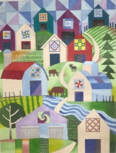 click here to view larger image of Barn Quilt Trail (hand painted canvases)