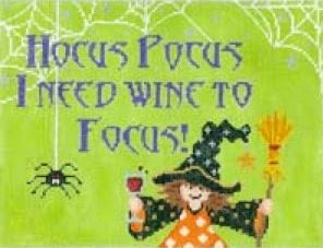 click here to view larger image of Hocus Pocus I Need Wine  (hand painted canvases)