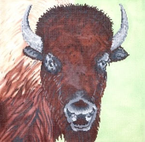 click here to view larger image of Buffalo (hand painted canvases)