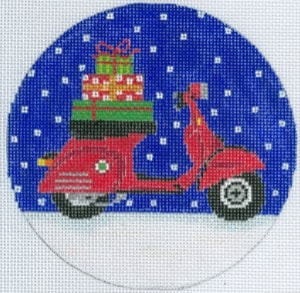 click here to view larger image of Vespa Holiday Ornament (hand painted canvases)