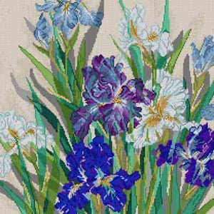 click here to view larger image of Iris Garden (hand painted canvases)
