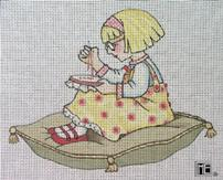 click here to view larger image of Anna Estelle Sewing (hand painted canvases)