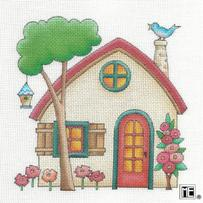 click here to view larger image of Beige House (hand painted canvases)