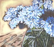 click here to view larger image of Blue Cornflowers (hand painted canvases)