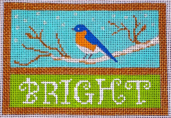 click here to view larger image of Bright Bluebird (hand painted canvases)
