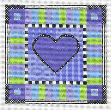 click here to view larger image of Alpine Heart (includes stitch guide) (hand painted canvases)