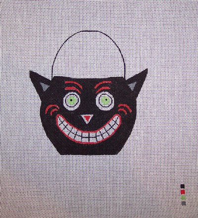 click here to view larger image of Candy Pail Cat (hand painted canvases)