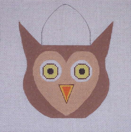 click here to view larger image of Candy Pail Owl (hand painted canvases)