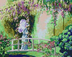 click here to view larger image of Lady on the Bridge (hand painted canvases)
