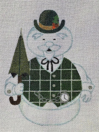 click here to view larger image of Plaid Snowman - 18ct (hand painted canvases)