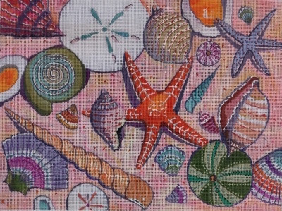 click here to view larger image of Beach Medley - 18ct (hand painted canvases)