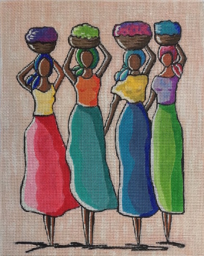 click here to view larger image of Four Women - 18ct (hand painted canvases)