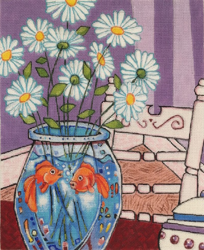 click here to view larger image of Daisies- 18ct (hand painted canvases)