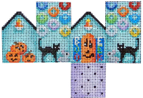 click here to view larger image of Halloween/Cats Mini Cottage (hand painted canvases)