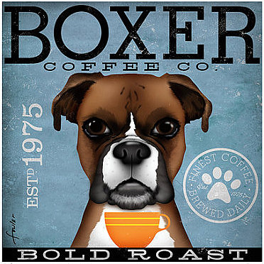 click here to view larger image of Boxer (Bold Roast) (hand painted canvases)