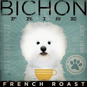 click here to view larger image of Bichon Frise (French Roast) (hand painted canvases)