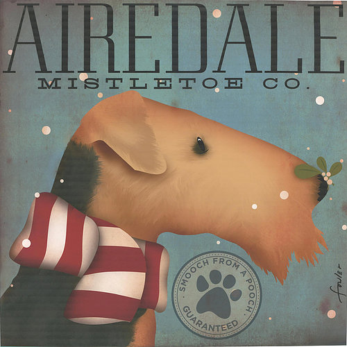 click here to view larger image of Airedale Mistletoe Company (hand painted canvases)