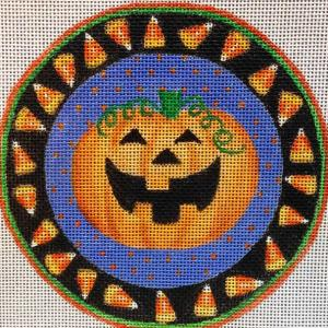 click here to view larger image of Halloween Grin (hand painted canvases)
