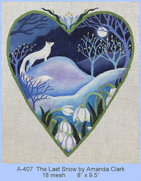 click here to view larger image of Last Snow Heart, The (hand painted canvases)