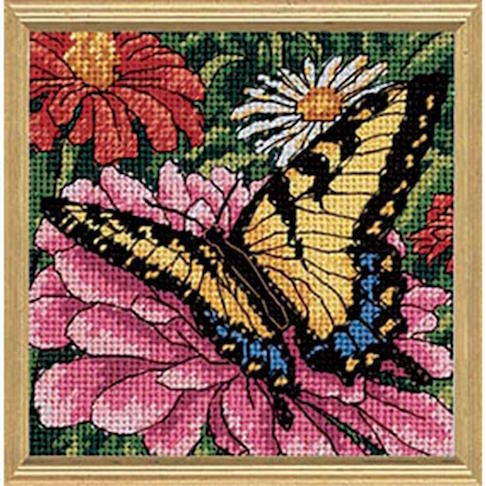 click here to view larger image of Butterly/Zinnia (needlepoint kits)