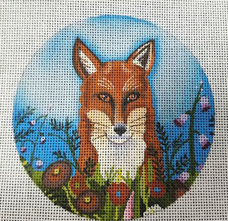 click here to view larger image of Fox in the Flowers (hand painted canvases)