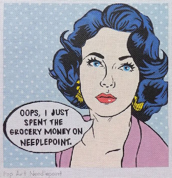 click here to view larger image of Pop Art Needlepoint (hand painted canvases)